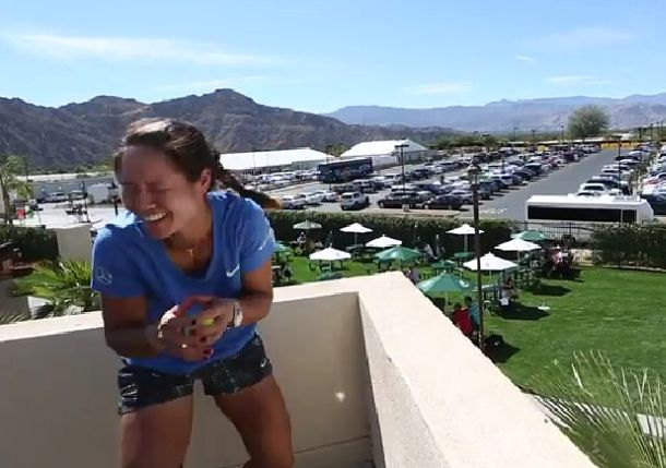 Video: Li, Sharapova, Radwanska, Azarenka Chuck Water Balloons