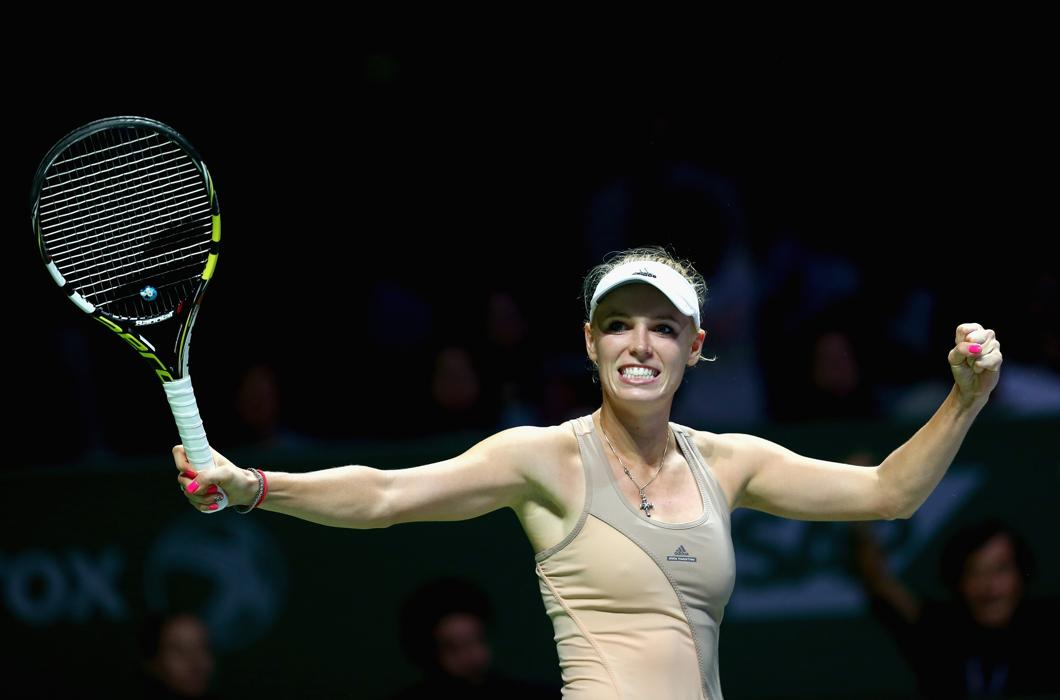 Wozniacki Clinches Singapore Semifinal Spot With Win Over Kvitova