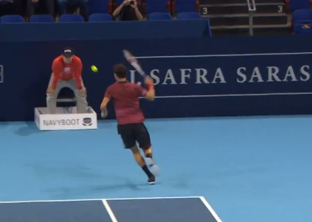 "Video: Another Resplendent ""Hot Dog"" from Dimitrov"