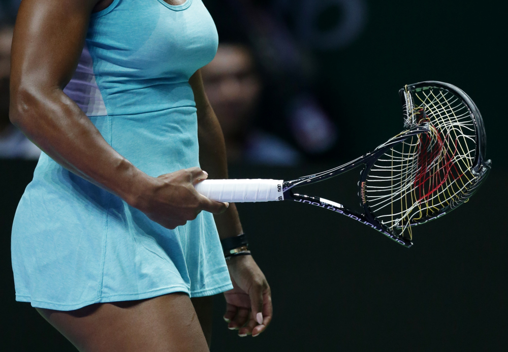 "Video: Williams Calls Singapore Racquet Smash ""Legendary"""