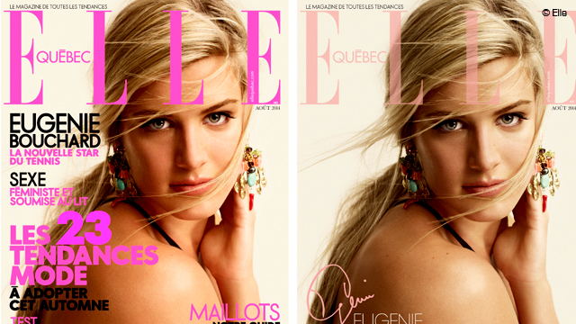 Eugenie Bouchard Graces the Cover of ELLE Québec
