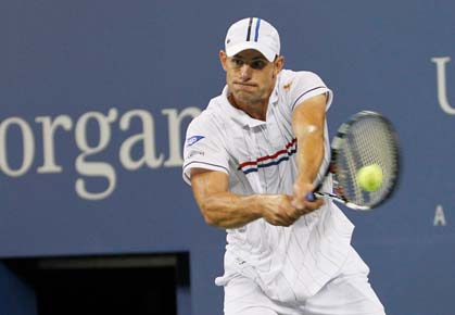 Andy Roddick plays against Bernard Tomic in the 2nd round of the 2012 US Open