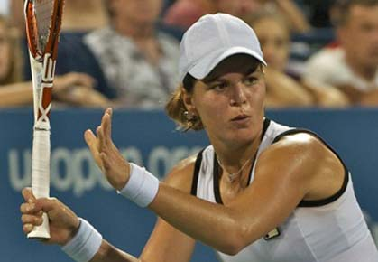 Anna Tatishvili has her best showing at a major at the 2012 US Open