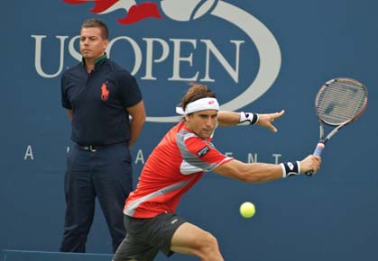 David Ferrer beats Janko Tipsarevic in the quarterfinals of the 2012 US Open