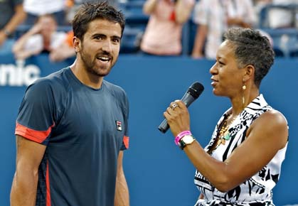 Janko Tipsarevic plays Ferrer in the quarters of the 2012 US Open