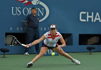 Kim Clijsters plays her last matches at the 2012 U.S. Open