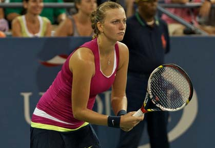 Petra Kvitova in the fourth round of the 2012 US Open
