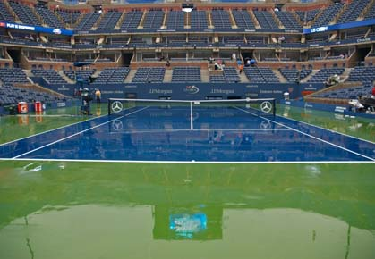 Rain affects Day 9 play at the 2012 US Open