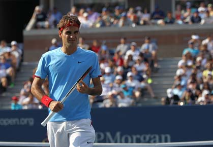 Roger Federer will play Tomas Berdych in the 2012 U.S. Open Quarterfinals