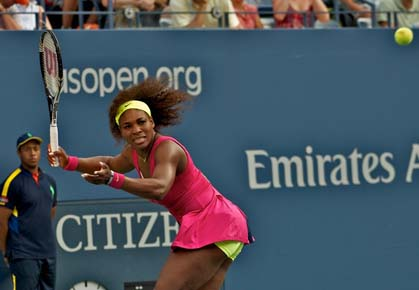 Serena Williams will face Sara Errani in the semifinals of the 2012 US Open