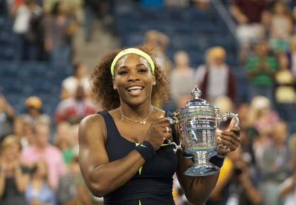 Serena Williams wins her fourth U.S. Open title, defeating Victoria Azarenka in three sets