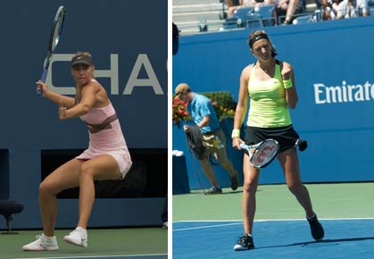 Victoria Azarenka and Maria Sharapova add another match to their rivalry, this time at the semis of the 2012 US Open