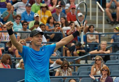 Tomas Berdych upsets Roger Federer at the 2012 US Open