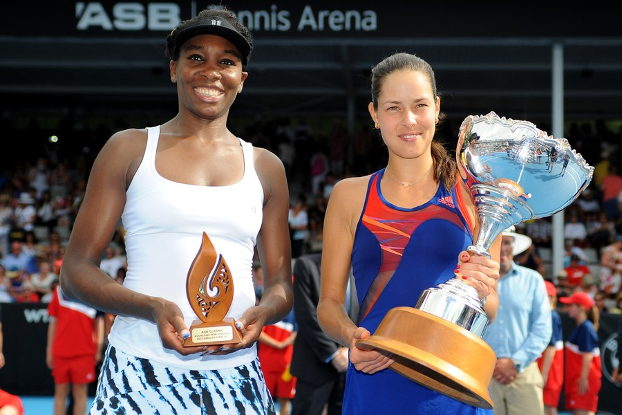 Ana Ivanovic Holds Off Venus Williams to Win Auckland Title