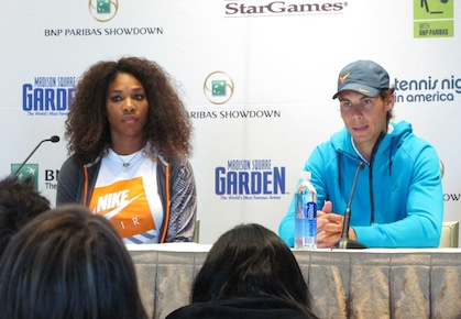 Rafael Nadal Serena Williams BNP Paribas Showdown