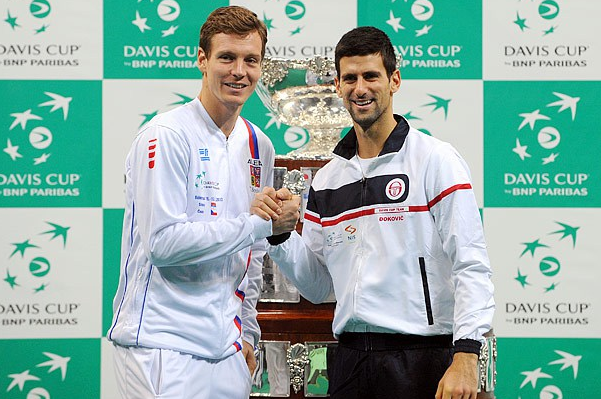 Djokovic and Berdych Tie Up Davis Cup Finals in Belgrade