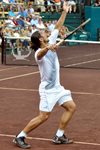 Guillermo Canas serve, 2009 Clay Court, Houston, Texas
