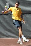 Guillermo Garcia-Lopez backhand slice - 2009 Clay Court - Houston, Texas