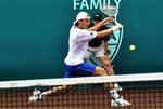 Tommy Haas slide - 2009 Clay Court - Houston, Texas
