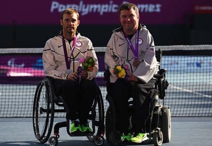 U.S. quad singles player David Wagner captures silver medal at the 2012 Paralympic Games in London