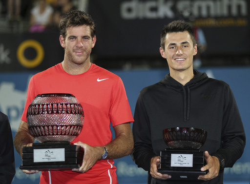 Del Potro Dismisses Tomic to Claim Sydney Title