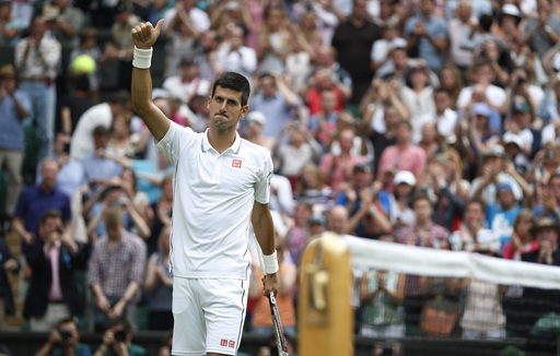 Djokovic Glides Through While Tsonga Interrupted at Wimbledon