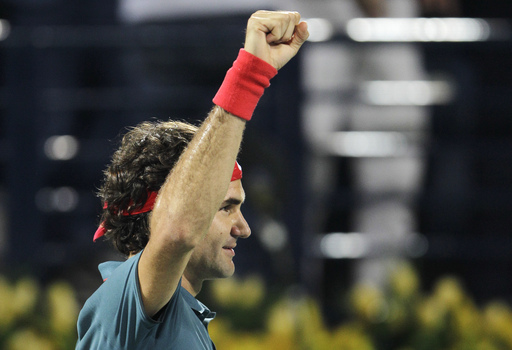 Federer Overcomes Berdych to Win Sixth Dubai Title
