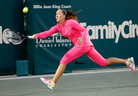 Jelena Jankovic Entertains On and Off Court in Charleston