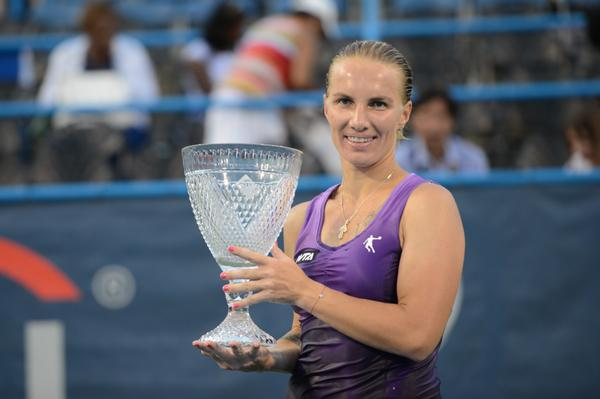Kuznetsova Wins First Title in Four Years at Citi Open