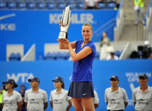 Kvitova Soars Over Bouchard in Wuhan Open Final