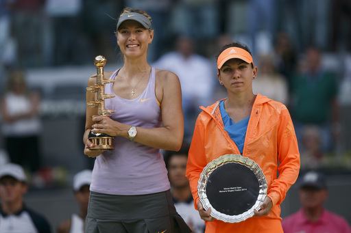 Sharapova Overcomes Halep To Win Madrid Title