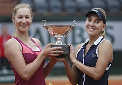 Makarova, Vesnina Claim French Open Women's Doubles Title