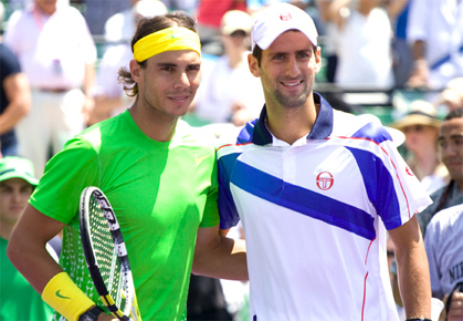Rafael Nadal and Novak Djokovic in Miami