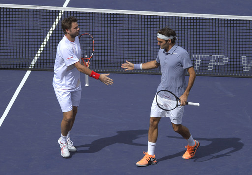 Federer & Wawrinka Dish Up Doubles Delight at Indian Wells