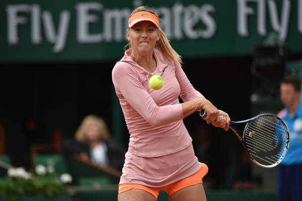 Maria Sharapova is Doing Her Best Claypova Imitation in Rome