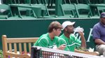 Ryan Harrison and Donald Young doubles team bench