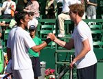 2010 US Men's Clay Court Championship Houston Final Juan Ignacio Chela Sam Querrey hand shake