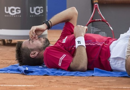 Wawrinka Retires with Back Pain in Gstaad Quarters