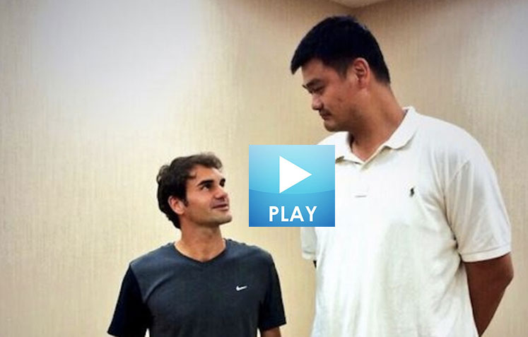 Federer Meets Yao – Fognini's Antics – Bouchard's Fitness Tips