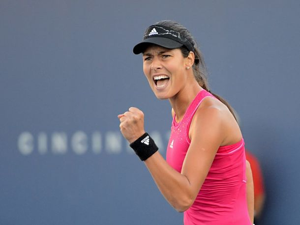 Ivanovic Squeezes Past Sharapova in Thriller
