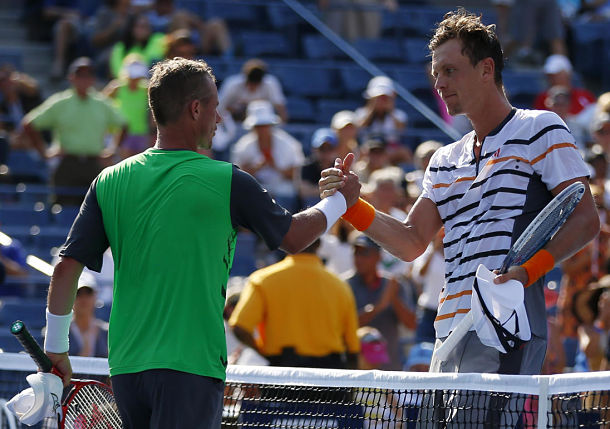Tomas Berdych and Lleyton Hewitt, 2014 US Open