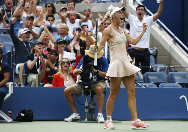 Wozniacki Bests Sharapova to Reach US Open Quarterfinals