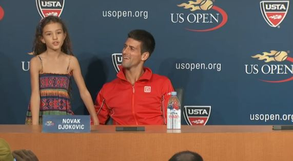 Video: Djokovic Brings Nine-Year-old Prodigy to Presser