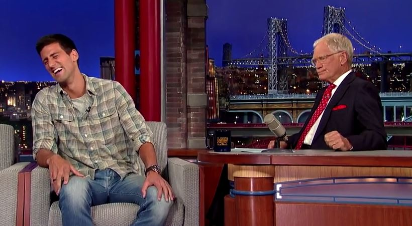 Video: Djokovic Talks Tennis with David Letterman