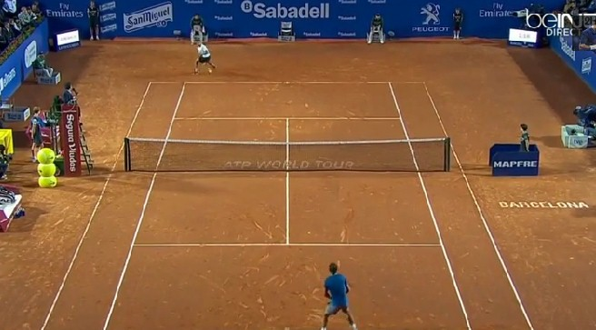 Video: Dodig Hits Tweener Against Nadal, Wins Point