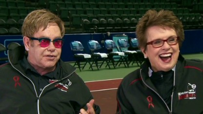 Sir Elton John and Billie Jean King Hosting Mylan World TeamTennis Smash Hits
