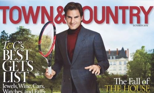 Roger Federer Graces Town & Country's October Cover