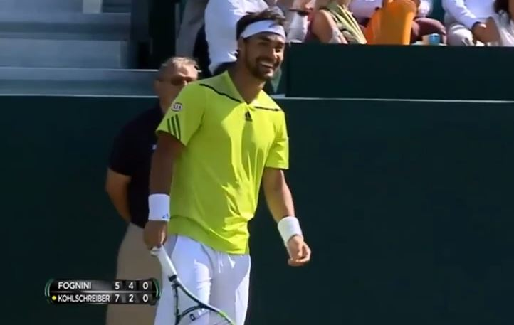 Video: Fabio Fognini Hits a Spectacular Tweener at the Boodles