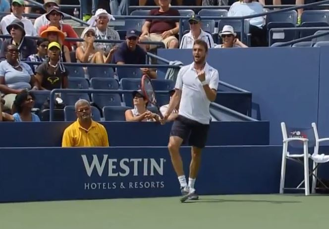 Video: Gilles Simon Hits Amazing Scoop Forehand Winner