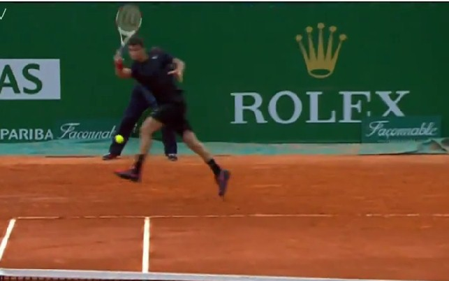 Video: Dimitrov Hits Curling Forehand Winner on the Run vs. Ramos
